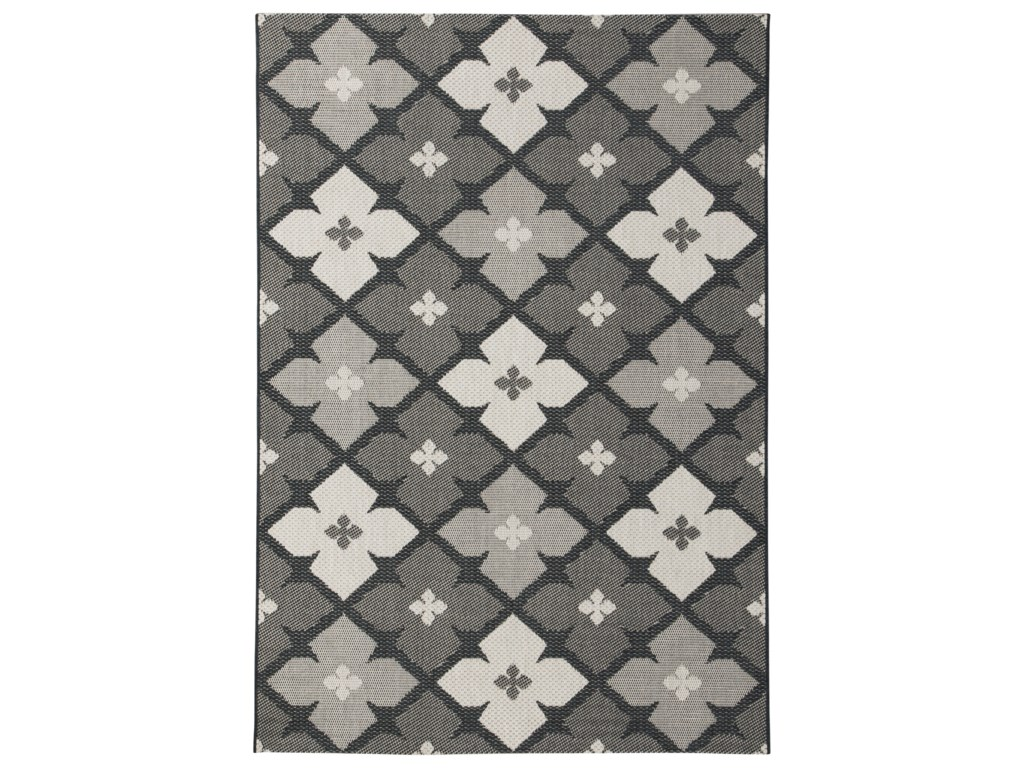 Trendz Contemporary Area RugsAsho Black/Cream Large Rug