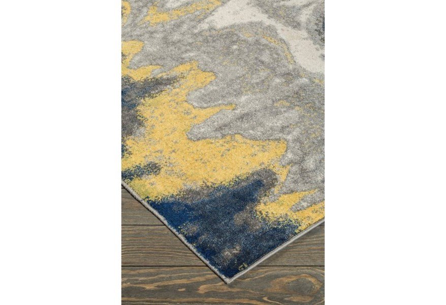 Area Rugs Alanson Blue Gray Yellow