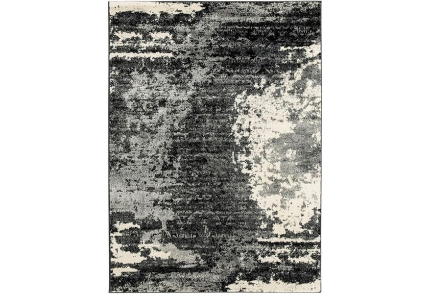 Signature Design By Ashley Contemporary Area Rugs R402701 Roskos Black Gray Large Rug Furniture And Appliancemart Rugs