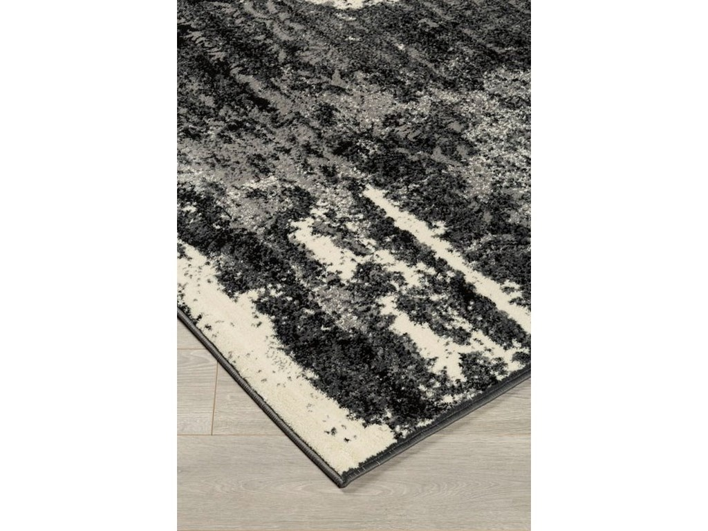Signature Design by Ashley Contemporary Area RugsRoskos Black/Gray Large Rug