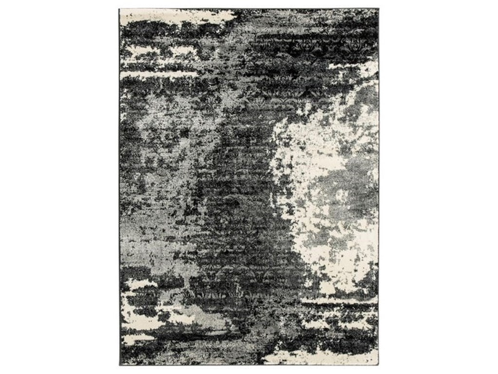 Signature Design by Ashley Contemporary Area RugsRoskos Black/Gray Medium Rug
