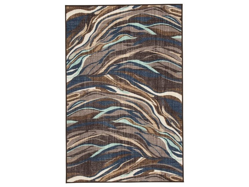 Ashley Signature Design Contemporary Area RugsJochebed Blue/Brown Medium Rug