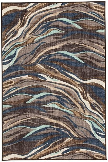 Signature Design by Ashley Contemporary Area Rugs Jochebed Blue/Brown Medium Rug