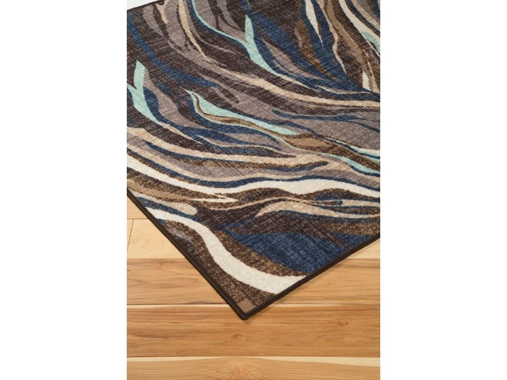 Signature Design by Ashley Contemporary Area RugsJochebed Blue/Brown Medium Rug