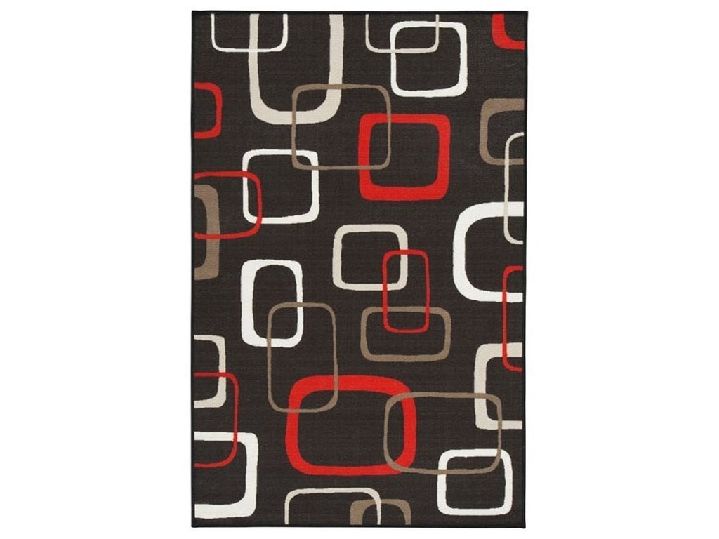 Signature Design by Ashley Contemporary Area RugsJohan Black/Red Medium Rug