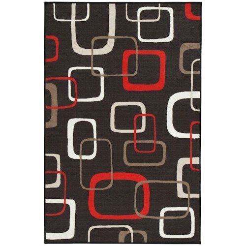 Signature Design by Ashley Contemporary Area Rugs Johan Black/Red Medium Rug
