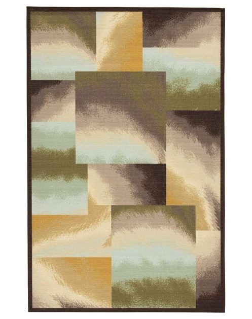 Signature Design by Ashley Contemporary Area RugsLenard Brown/Blue/Green Medium Rug