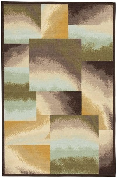 Signature Design by Ashley Contemporary Area Rugs Lenard Brown/Blue/Green Medium Rug