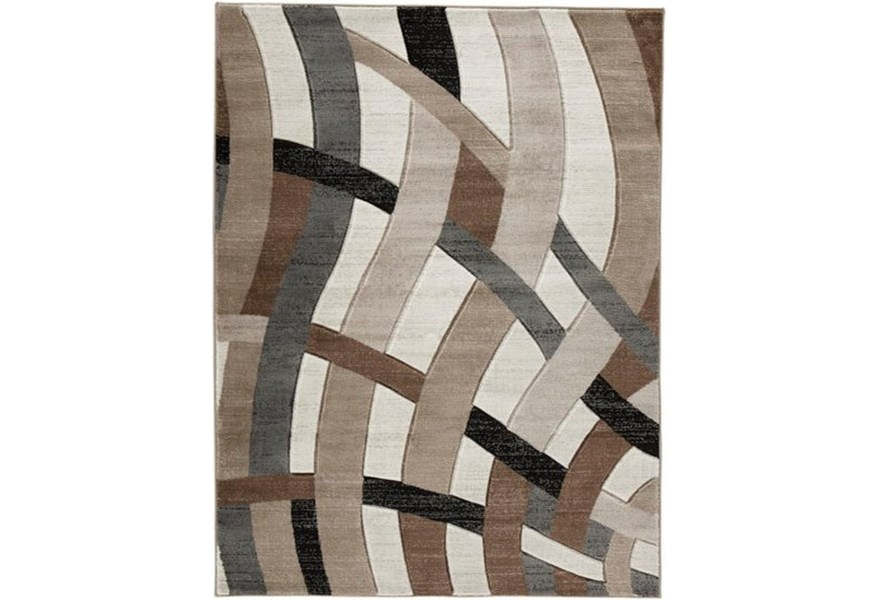 Contemporary Area Rugs Jacinth Brown