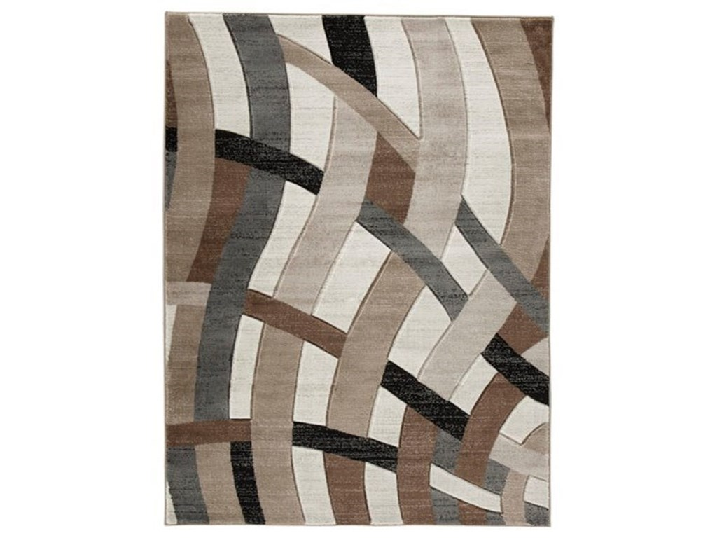 Contemporary Area Rugs Jacinth Brown Medium Rug By Signature Design Ashley At Furniture And Liancemart