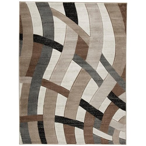 Signature Design by Ashley Contemporary Area Rugs Jacinth Brown Medium Rug