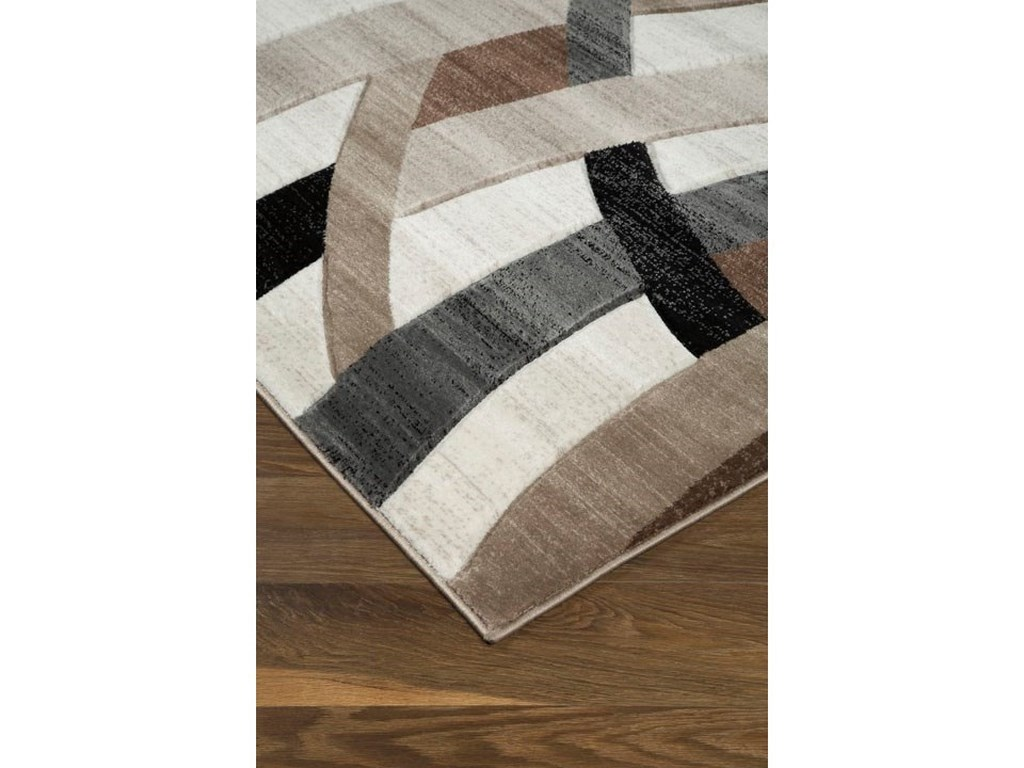 Ashley Signature Design Contemporary Area RugsJacinth Brown Medium Rug