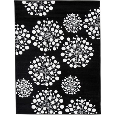 Jaliyah Black/White Medium Rug