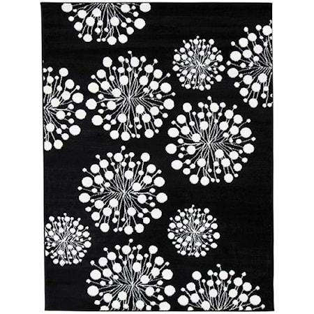 Jaliyah Black/White Medium Rug