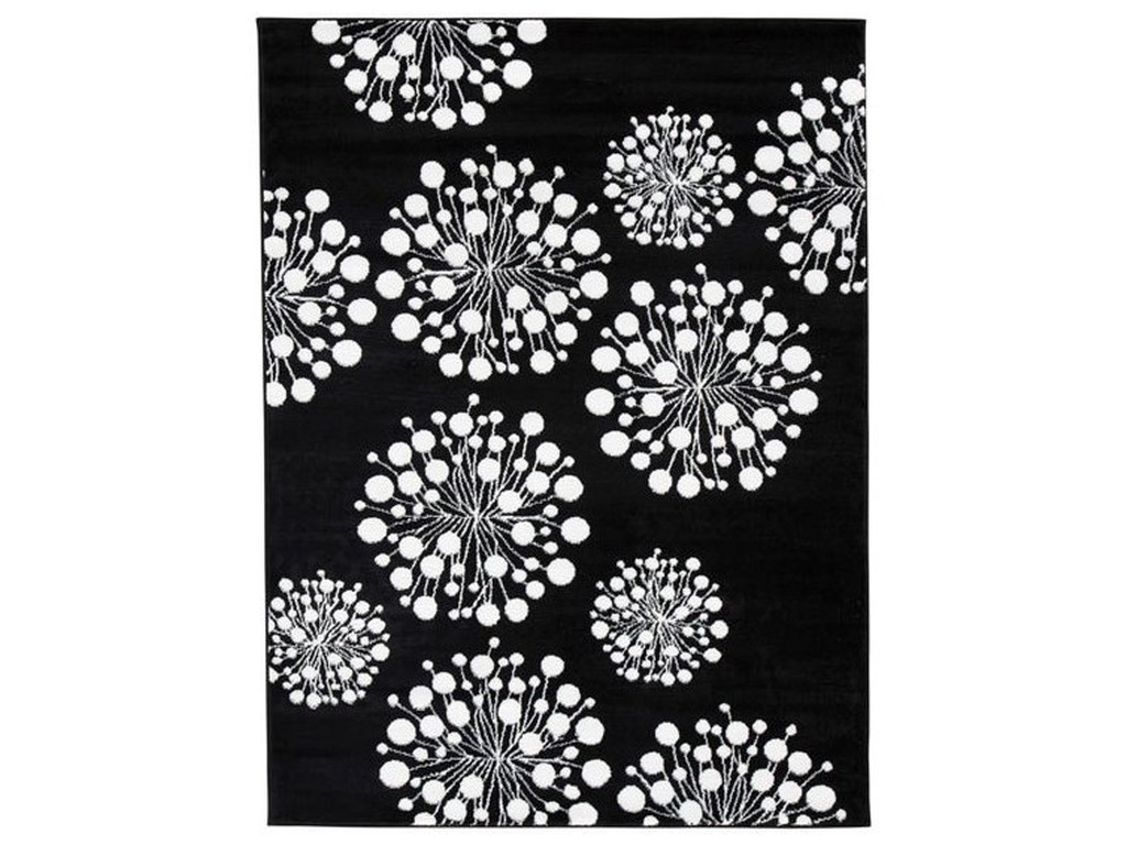Signature Design by Ashley Contemporary Area RugsJaliyah Black/White Medium Rug