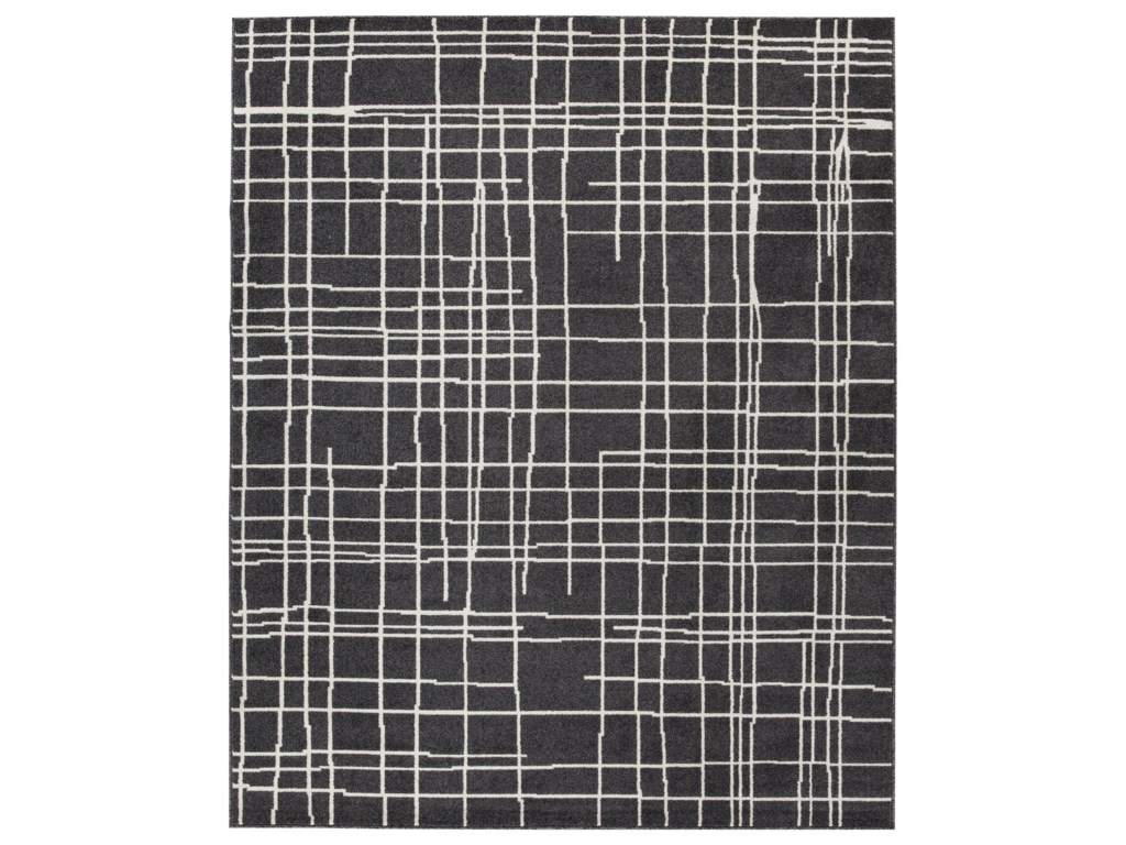 Signature Design by Ashley Contemporary Area RugsJai Black/White Medium Rug