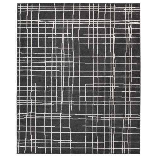 Signature Design By Ashley Contemporary Area Rugs Jai Black White