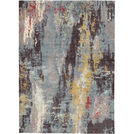 Quent Blue/Gray/Yellow Medium Rug