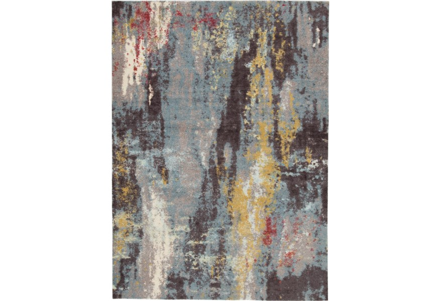 Area Rugs R403212 Quent Blue
