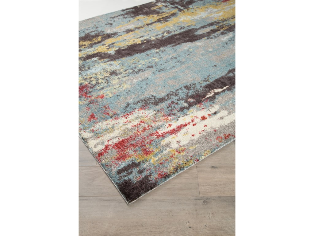 Ashley Signature Design Contemporary Area RugsQuent Blue/Gray/Yellow Medium Rug