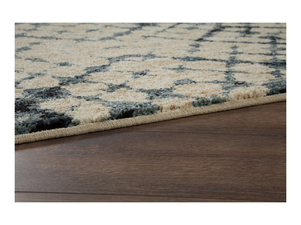 Ashley Signature Design Contemporary Area RugsCatheryn Blue Medium Rug