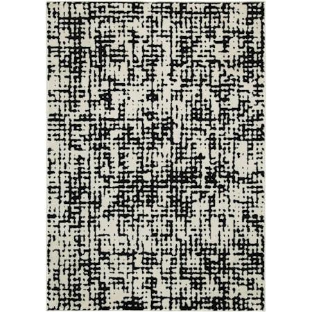 Jezel Black/White Large Rug