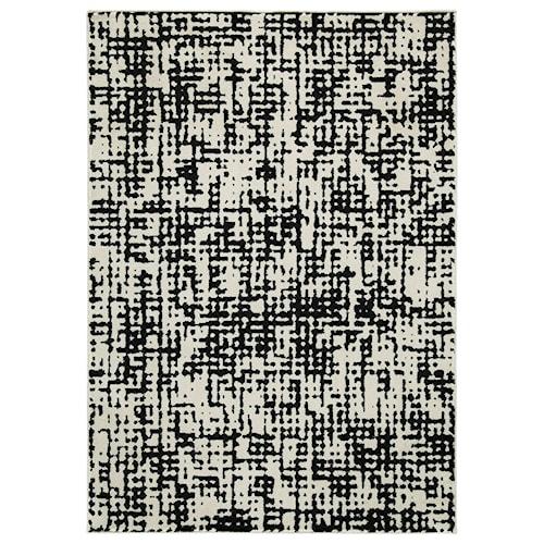 Signature Design by Ashley Contemporary Area Rugs Jezel Black/White Medium Rug
