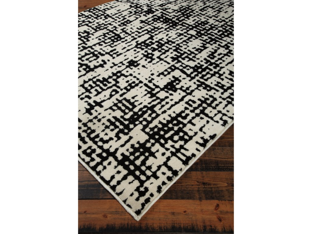 Signature Design by Ashley Contemporary Area RugsJezel Black/White Medium Rug