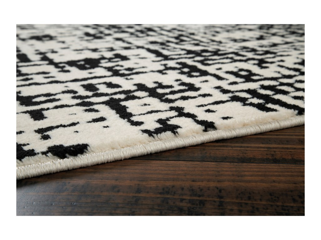 Signature Design by Ashley Contemporary Area RugsJezel Black/White Large Rug