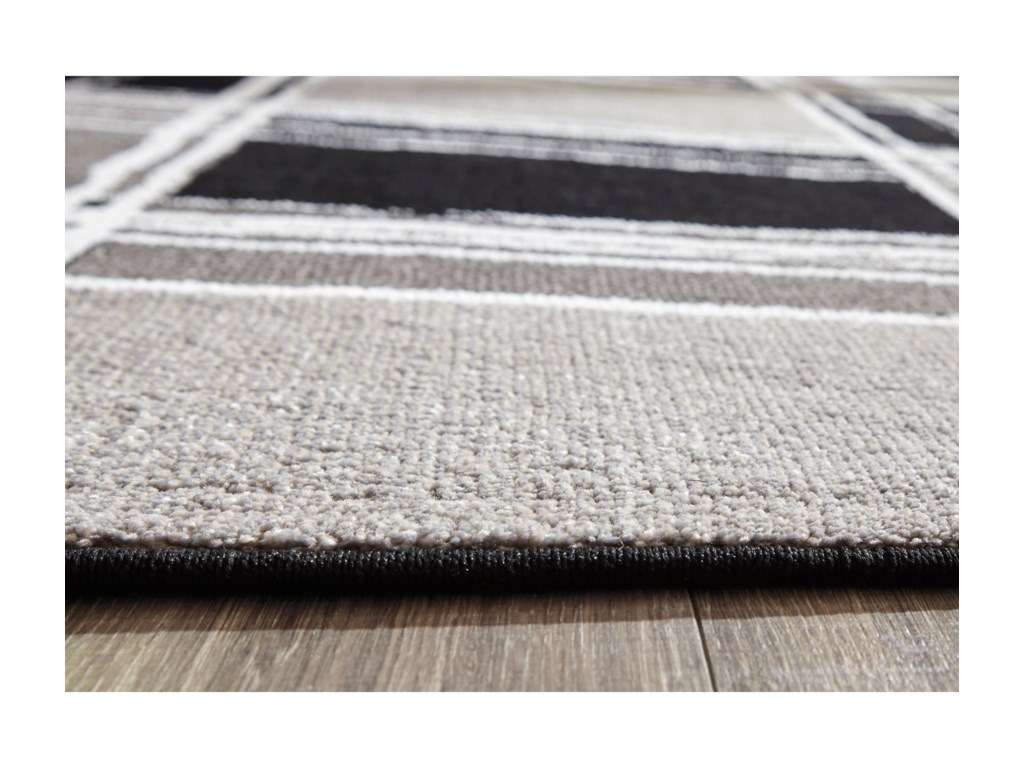 Signature Design by Ashley Contemporary Area RugsRamy Black/White/Gray Medium Rug