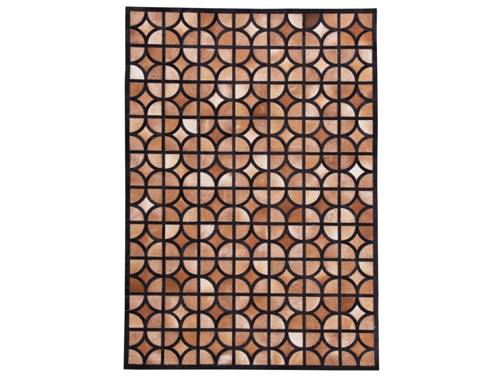 Signature Design by Ashley Contemporary Area RugsJingjin Black/Brown Large Rug