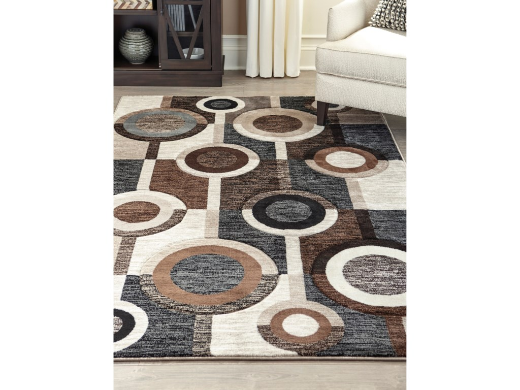 Signature Design by Ashley Contemporary Area RugsGuintte Black/Brown/Cream Large Rug