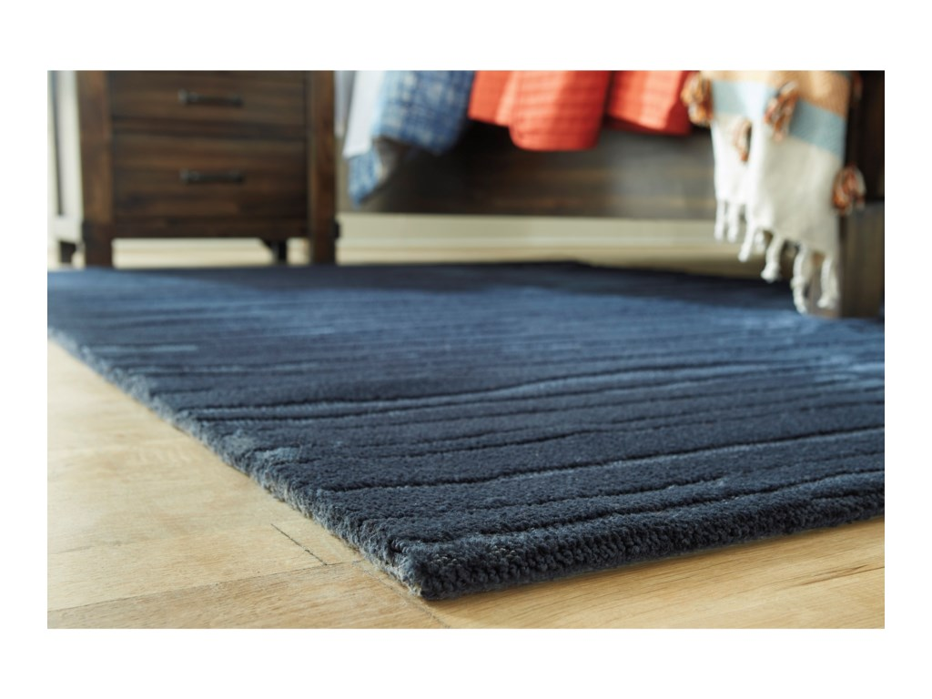 Signature Design by Ashley Contemporary Area RugsRoyer Blue Medium Rug