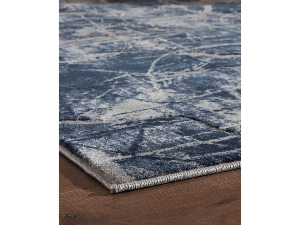 Signature Design by Ashley Contemporary Area RugsTullis Cream/Navy/Gray Medium Rug