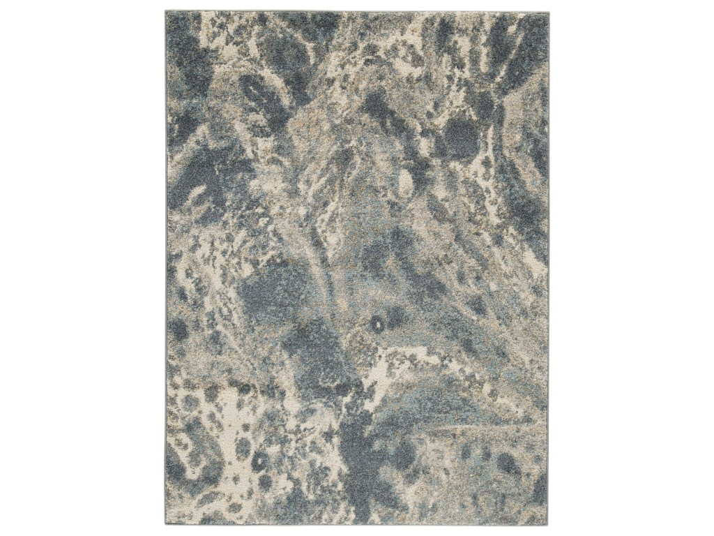 Ashley Signature Design Contemporary Area RugsJyoti Blue/Gray/Tan Large Rug
