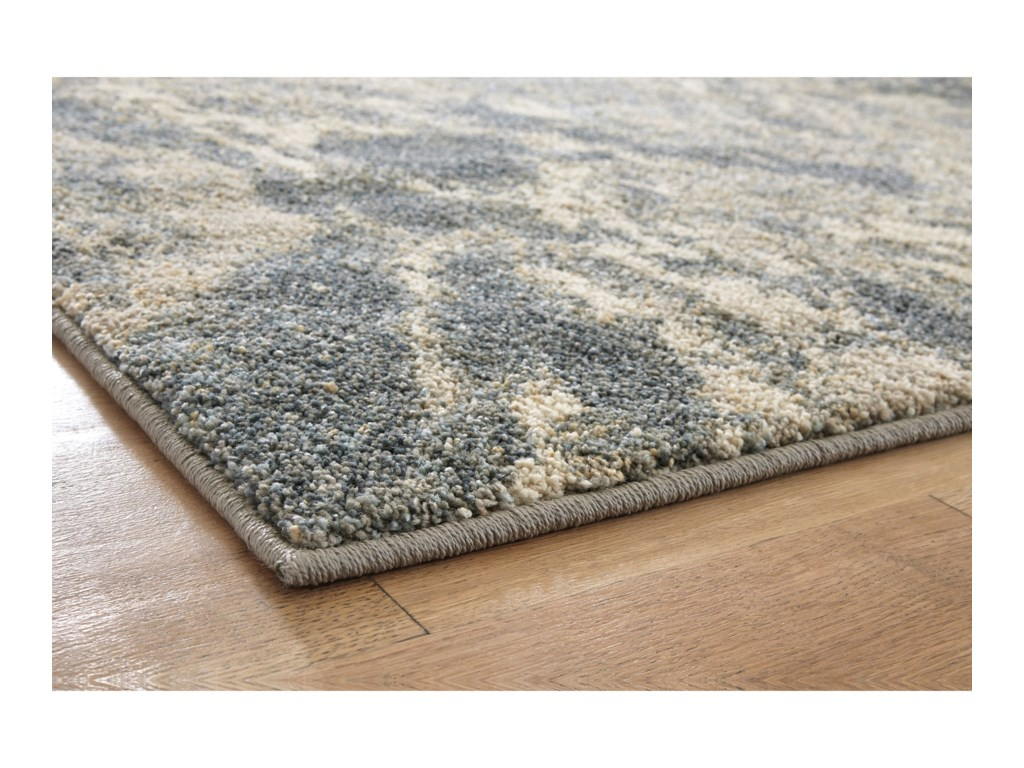 Signature Design by Ashley Contemporary Area RugsJyoti Blue/Gray/Tan Medium Rug