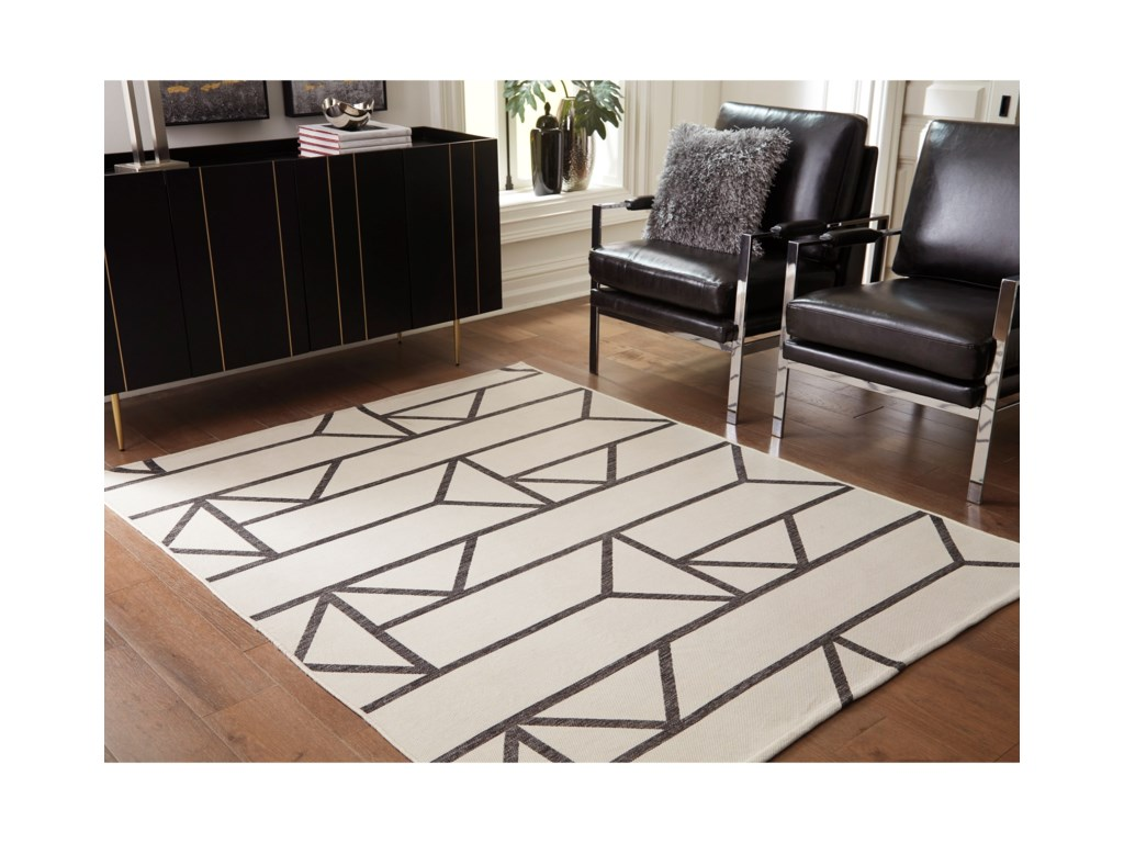 Signature Design by Ashley Contemporary Area RugsDerval Ivory Large Rug