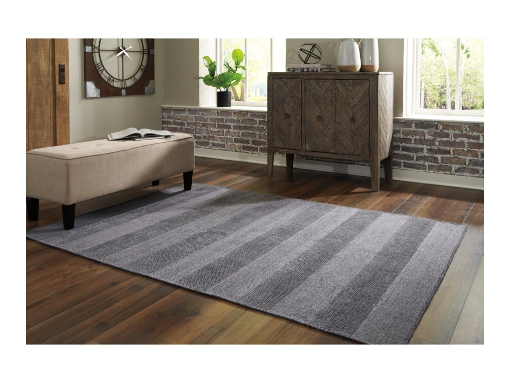 Signature Design by Ashley Contemporary Area RugsKaelynn Charcoal Large Rug