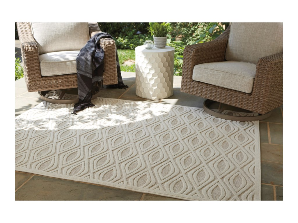 Signature Design by Ashley Contemporary Area RugsKylea Beige Large Rug