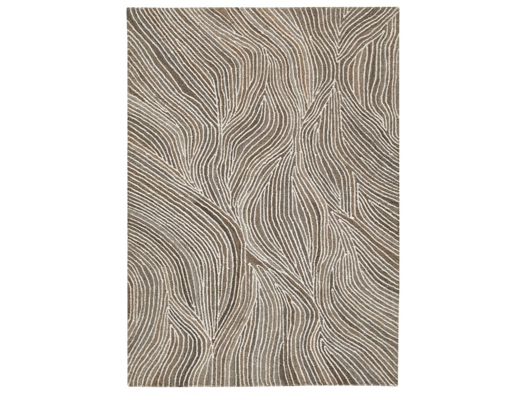 Signature Design by Ashley Contemporary Area RugsWysleigh Ivory/Brown/Gray Large Rug