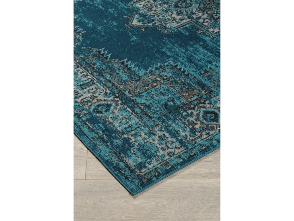 Signature Design by Ashley Traditional Classics Area RugsMoore Blue/Teal Large Rug