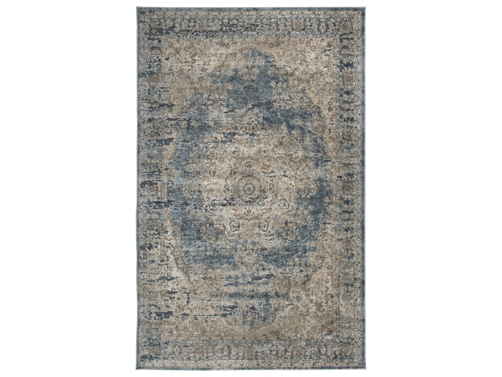 Signature Design by Ashley Traditional Classics Area RugsSouth Blue/Tan Medium Rug