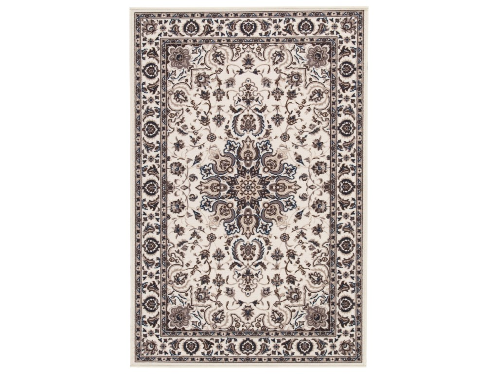 Signature Design by Ashley Traditional Classics Area RugsMonia Ivory/Navy Medium Rug