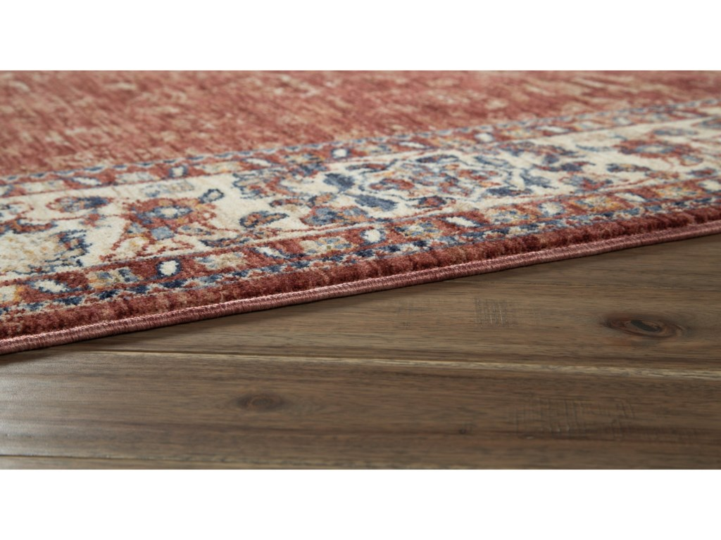 Signature Design by Ashley Traditional Classics Area RugsHaydrien Red Large Rug