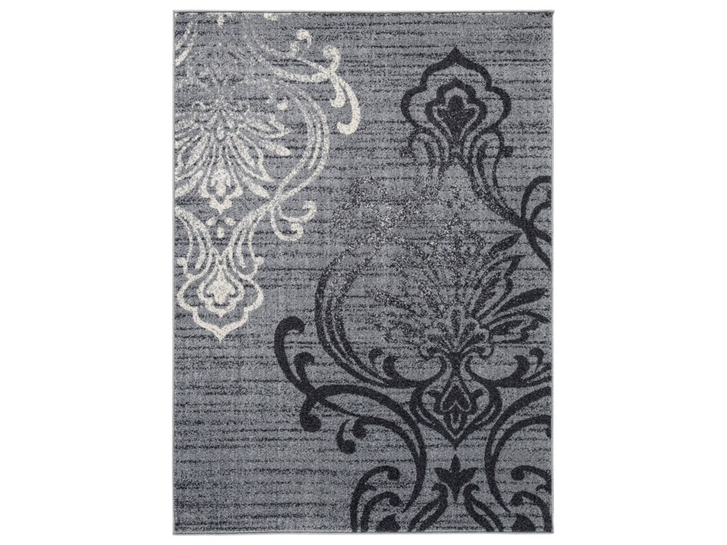 Signature Design by Ashley Transitional Area RugsVerrill Gray/Black Medium Rug