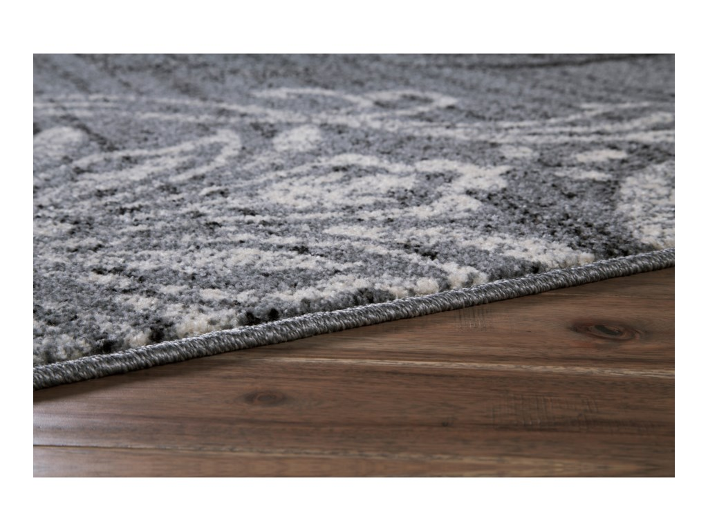 Signature Design by Ashley Transitional Area RugsVerrill Gray/Black Large Rug