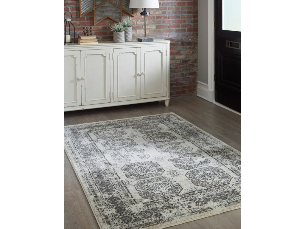 Signature Design by Ashley Transitional Area RugsJirou Gray/Taupe Medium Rug