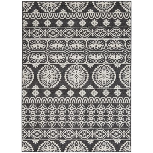 Signature Design by Ashley Transitional Area Rugs Jicarilla Black/White Large Rug