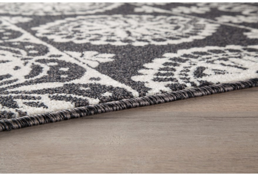 Transitional Area Rugs Jicarilla Black White Large Rug By Ashley Signature Design At Dunk Bright Furniture