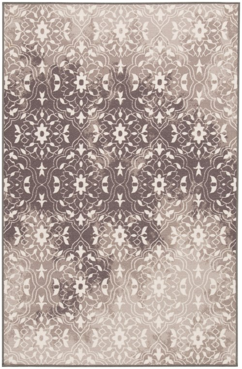 Signature Design by Ashley Transitional Area Rugs Jerilyn Gray/White Medium Rug